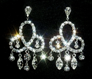 "Earrings measure 2"" in length"