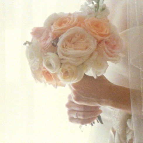 Bouquet on vintage film