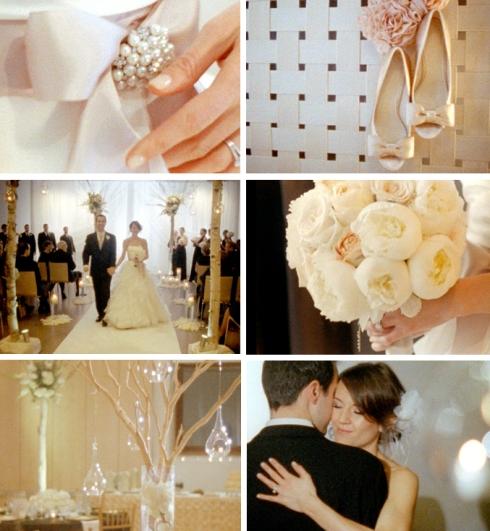 Winter wedding on film