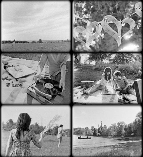 black and white wedding film