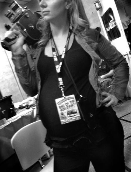 pregnant filmmaker